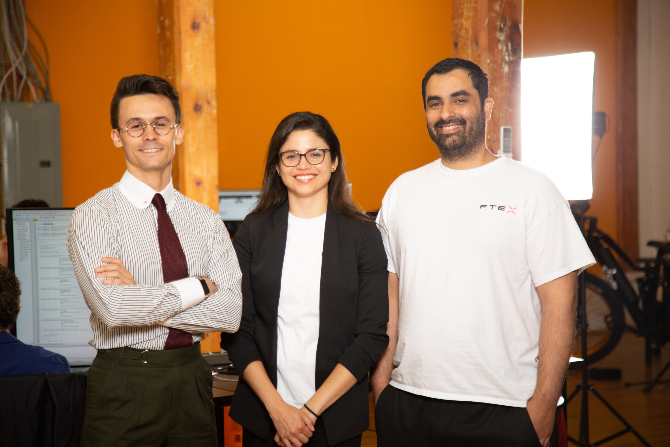 FTEX Founders, from left to right, Alexandre Cosneau, CTO, Silvana Huaman, CRO, Ramee Mossa, CEO.